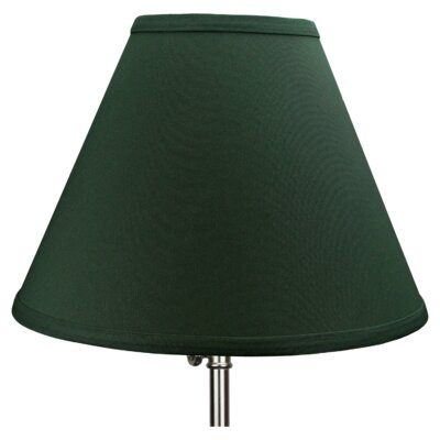 12 Linen Empire Lamp Shade Color: Hunter Green