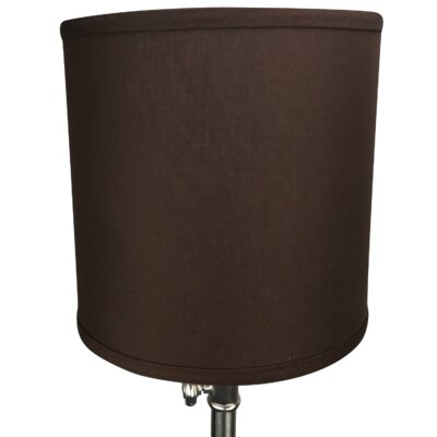 10 Linen Drum Lamp Shade Color: Coffee