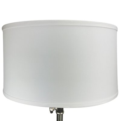 17 Linen Drum Lamp Shade Color: White