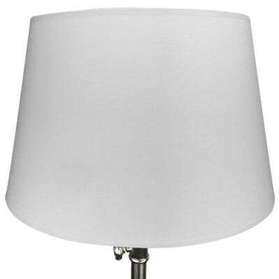 16 Linen Drum Lamp Shade Color: White