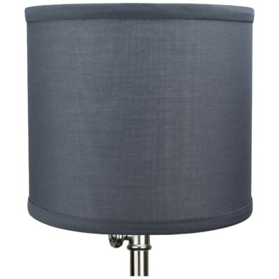 8 Linen Drum Lamp Shade Color: Slate