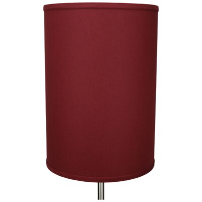12 Linen Drum Lamp Shade Color: Brick