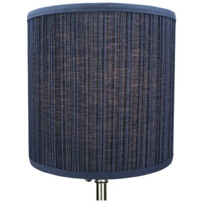 10 Linen Drum Lamp Shade Color: Navy
