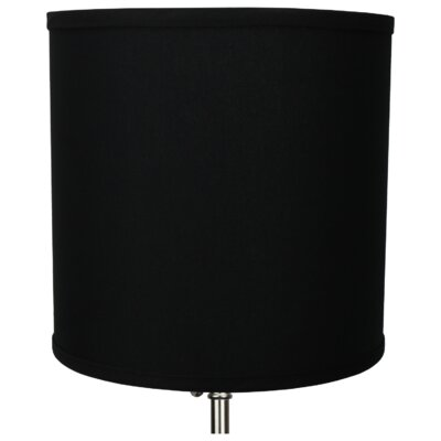 10.5 Linen Drum Lamp Shade Color: Black