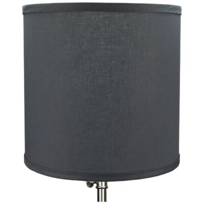 10.5 Linen Drum Lamp Shade Color: Graphite