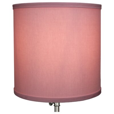 10.5 Linen Drum Lamp Shade Color: Peony
