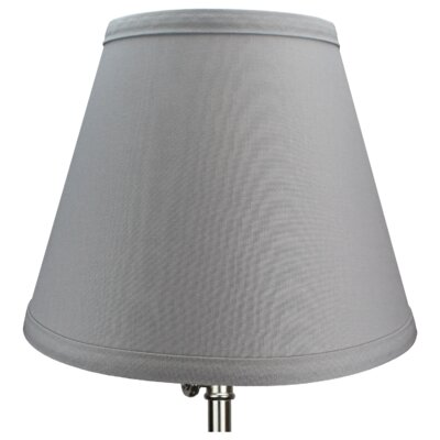 9 Linen Empire Lamp Shade Color: Gray