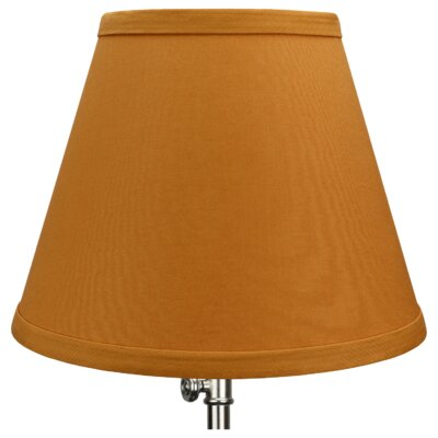 9 Linen Empire Lamp Shade Color: Gold