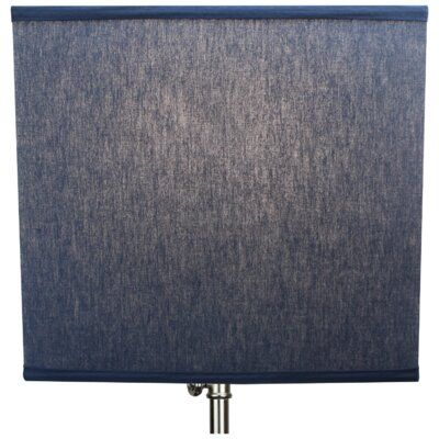 9 Linen Rectangular Lamp Shade Color: Navy Blue
