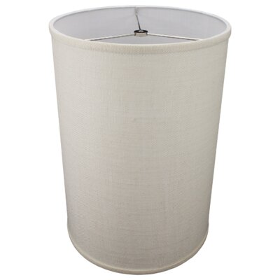 12 Burlap Drum Lamp Shade Color: Off White