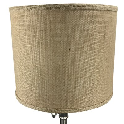 12 Burlap Drum Lamp Shade