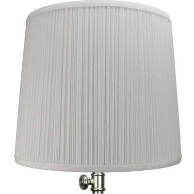 13 Linen Drum Lamp Shade Color: White