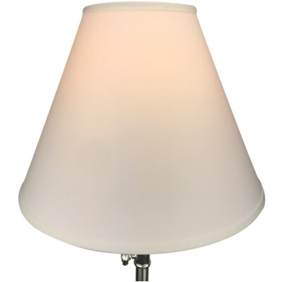 17 Linen Empire Lamp Shade Color: White