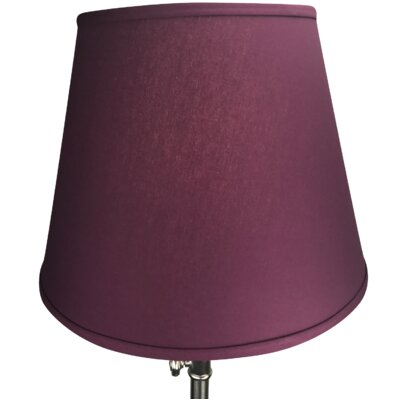 17 Linen Empire Lamp Shade Color: Burgundy