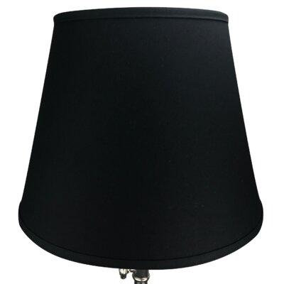17 Linen Empire Lamp Shade Color: Black