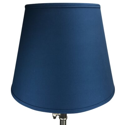 17 Linen Empire Lamp Shade Color: Navy Blue
