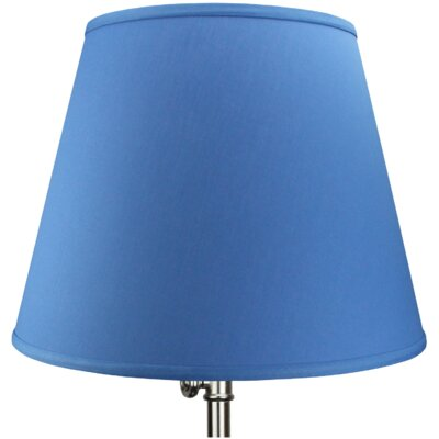 17 Linen Empire Lamp Shade Color: Cobalt