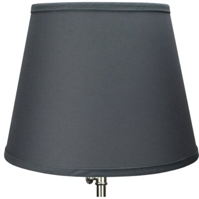 13 Linen Empire Lamp Shade Color: Graphite