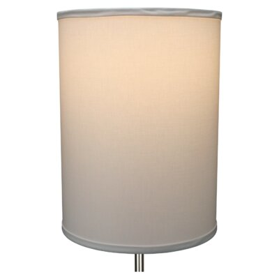 11 Linen Drum Lamp Shade Color: White