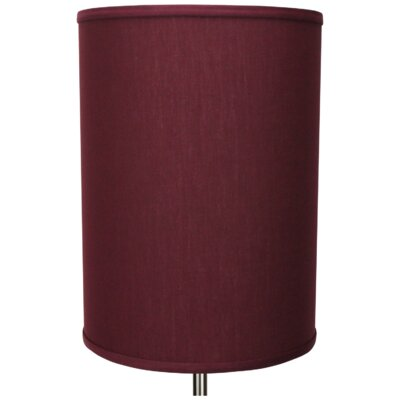 11 Linen Drum Lamp Shade Color: Ruby