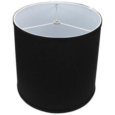 13 Linen Drum Lamp Shade Color: Black