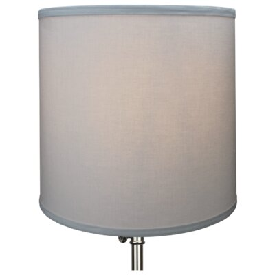 13 Linen Drum Lamp Shade Color: Silver