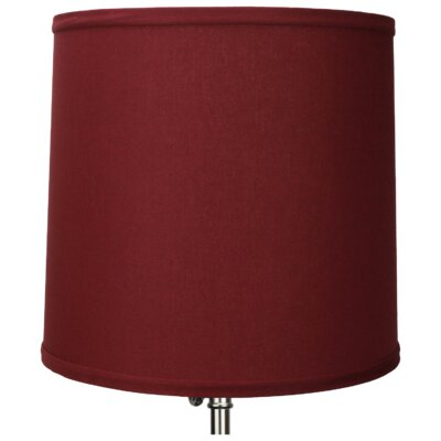 13 Linen Drum Lamp Shade Color: Brick