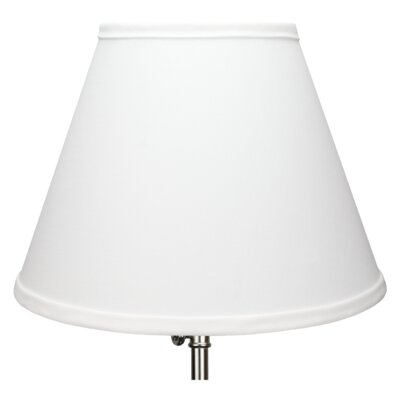 12 Linen Empire Lamp Shade Color: White