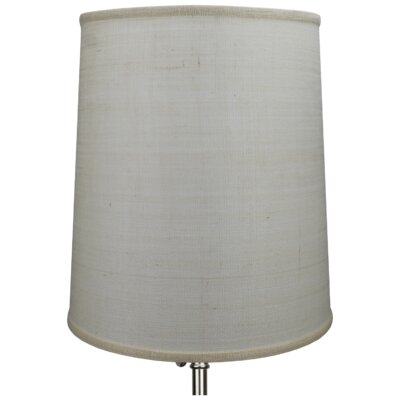 15 Burlap Drum Lamp Shade Color: Off White