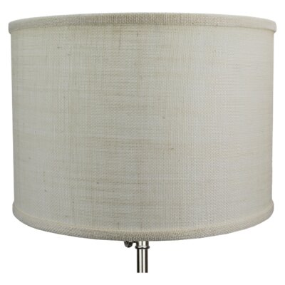 14 Linen Drum Lamp Shade Color: Off White