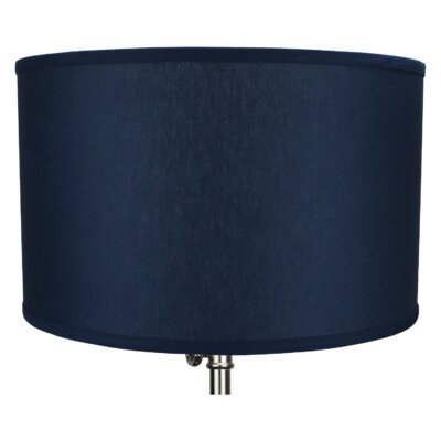 18 Linen Drum Lamp Shade Color: Navy Blue