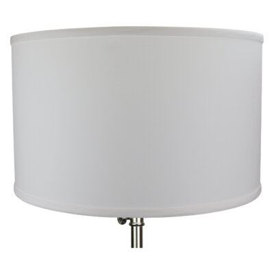 18 Linen Drum Lamp Shade Color: White