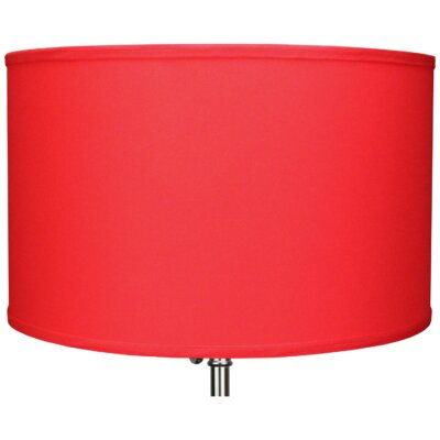18 Linen Drum Lamp Shade Color: Poppy