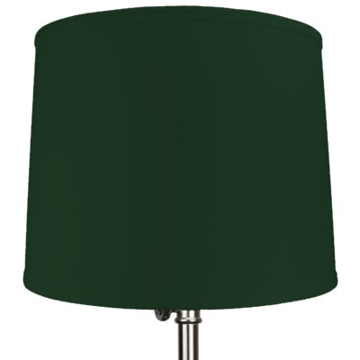 16 Linen Drum Lamp Shade Color: Hunter Green