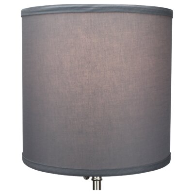 10 Linen Drum Lamp Shade Color: Gray