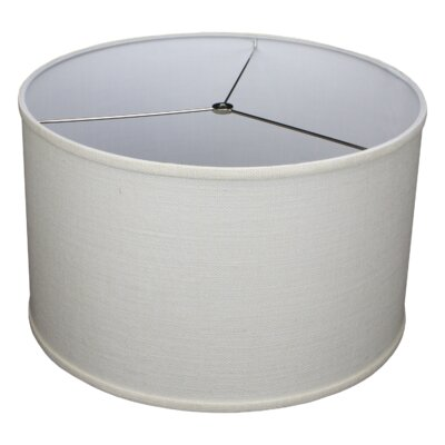 18 Burlap Drum Lamp Shade Color: Off White