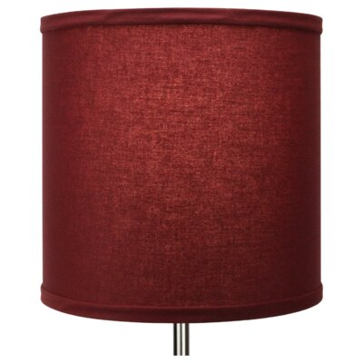 10.5 Linen Drum Lamp Shade Color: Brick