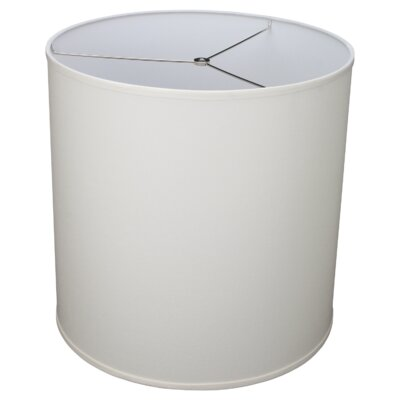 18 Linen Drum Lamp Shade Color: Cream