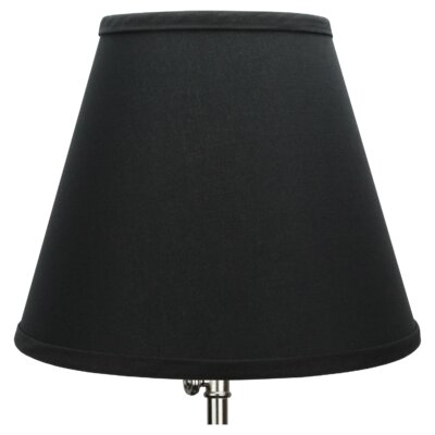 11 Linen Empire Lamp Shade Color: Black