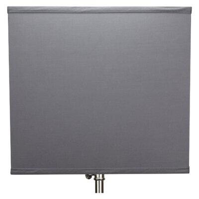 9 Linen Rectangular Lamp Shade Color: Gray