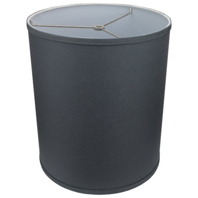 12 Linen Drum Lamp Shade Color: Graphite