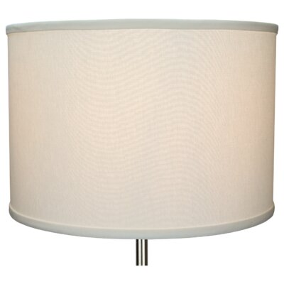 16 Linen Drum Lamp Shade Color: Off White
