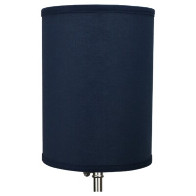 8 Linen Drum Lamp Shade Color: Navy