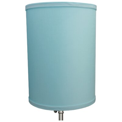 8 Linen Drum Lamp Shade Color: Robin Egg