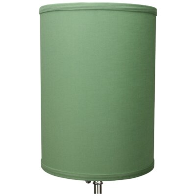 8 Linen Drum Lamp Shade Color: Celadon