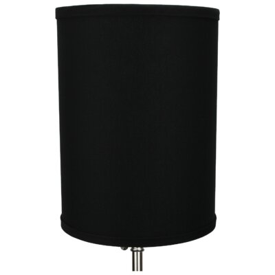 8 Linen Drum Lamp Shade Color: Black