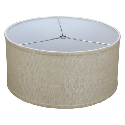 17 Burlap Drum Lamp Shade Color: Natural