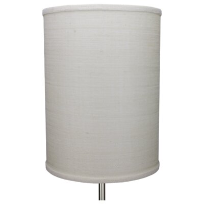 11 Burlap Drum Lamp Shade Color: Off White