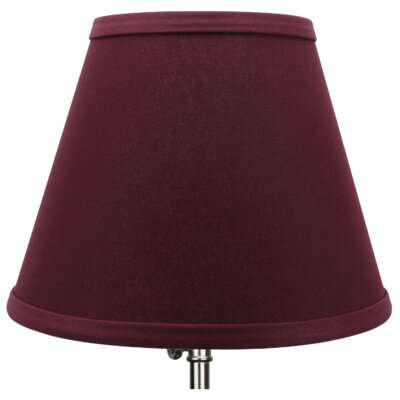 9 Linen Empire Lamp Shade Color: Burgundy