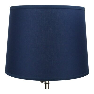 16 Linen Drum Lamp Shade Color: Navy